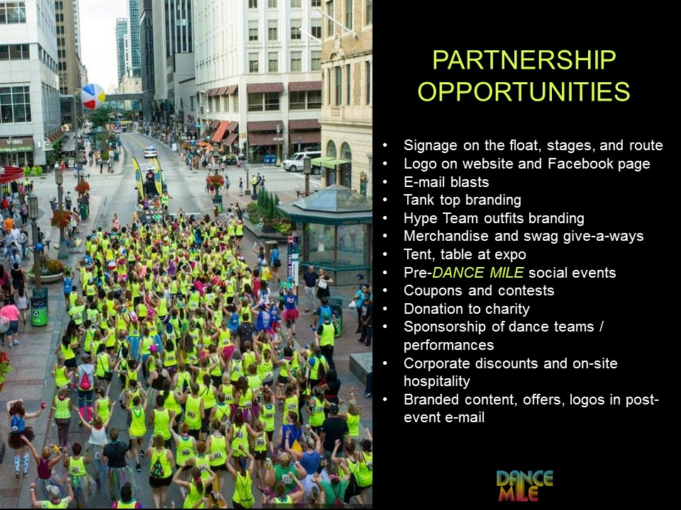 Dance Mile Partnership Opportunities